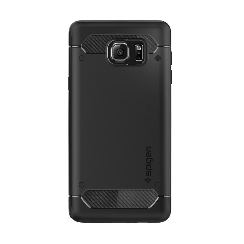 Spigen Rugged Armor Black Casing for Samsung Galaxy Note 5