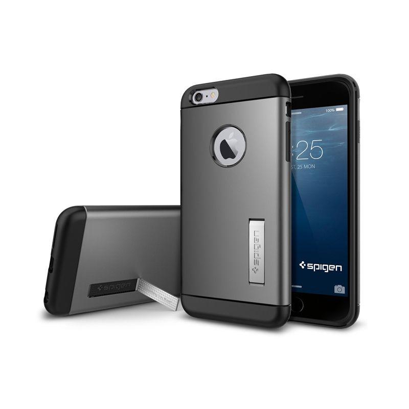 Spigen Slim Armor Gunmetal Casing for iPhone 6 Plus