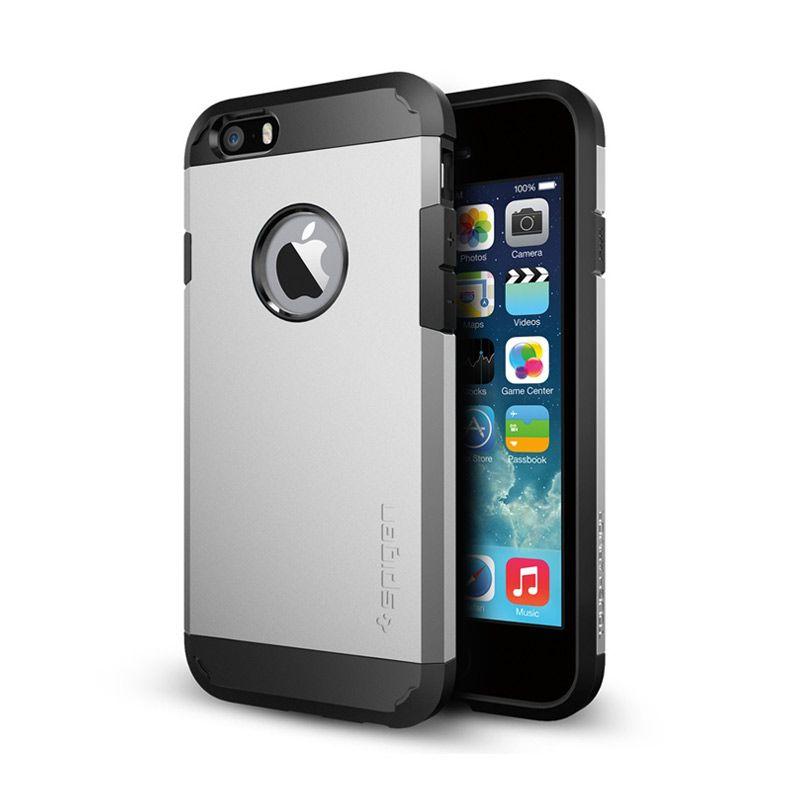 Spigen Tough Armor Satin Silver Casing for iPhone 6