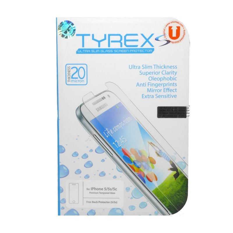 Tyrex Slim Tempered Glass Screen Protector for iPhone 5 or 5S [0.2 mm]