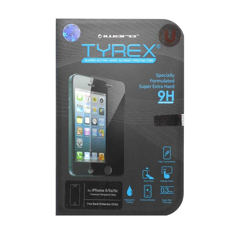 Tyrex Tempered Glass Screen Protector for iPhone 5 or 5s