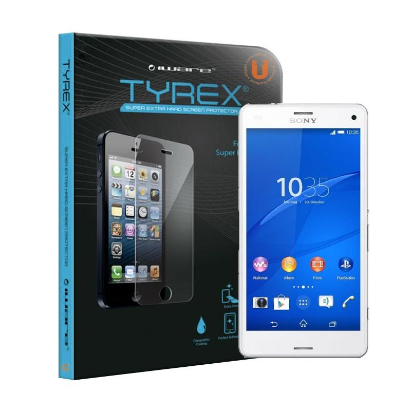 Tyrex Tempered Glass Screen Protector for Sony Xperia Z3 Compact + Plastic Back Protector