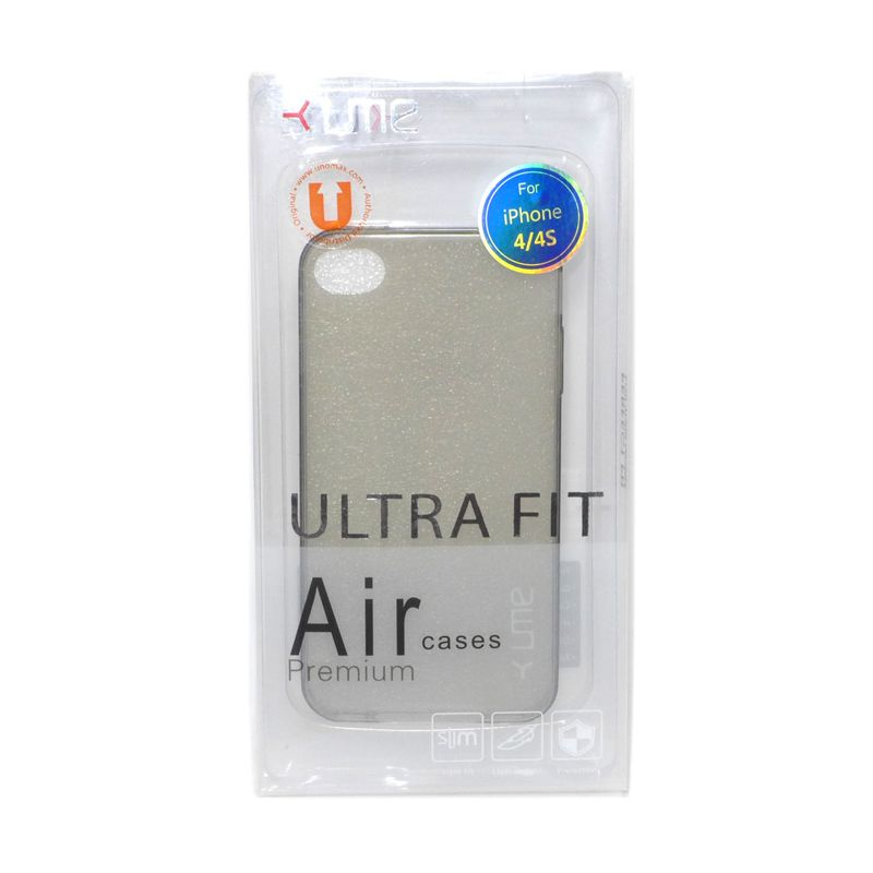 Ume Ultra Fit Air Silicon Black Casing For iPhone 4/4s