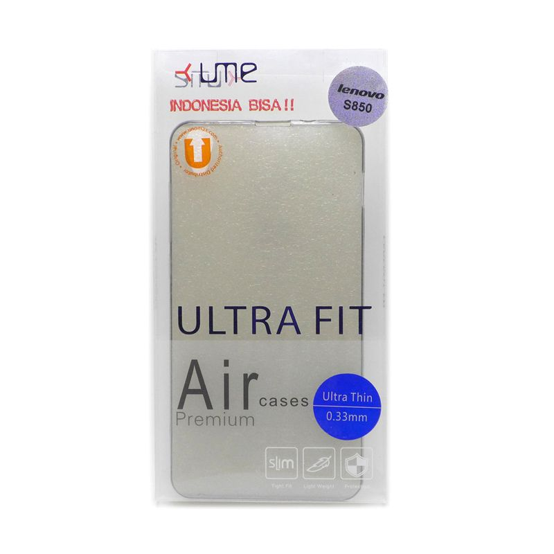 Ume Ultra Fit Air Silicon Black Casing For Lenovo S850