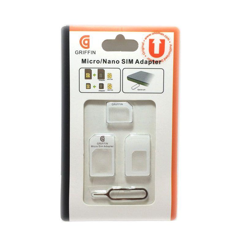 Unomax White Micro or Nano SIM Adapter