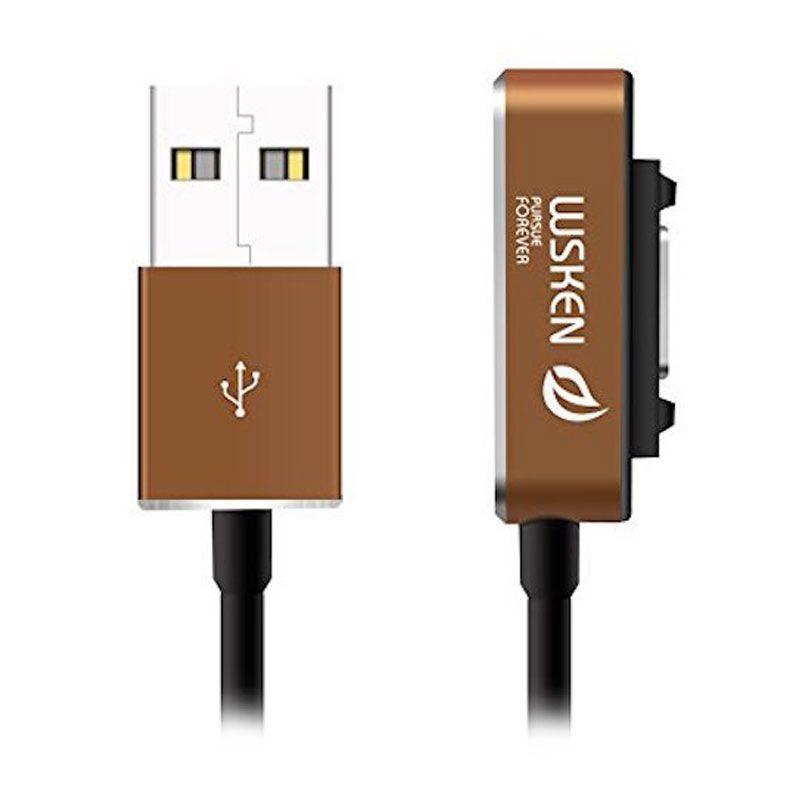 WSKEN Sony Magnetic Cable V2.0 Xperia Z3, Z3 Compact, Z2, Z1, Z1 Compact, Z Ultra - Gold