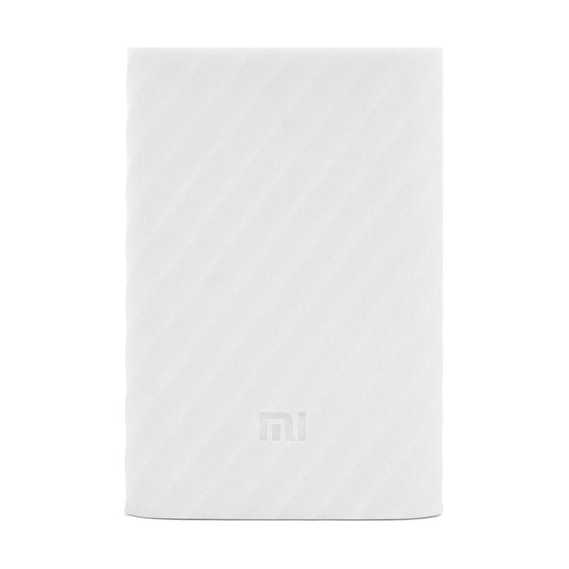 Xiaomi White Silicon Casing for Mi Powerbank 10000 mAh