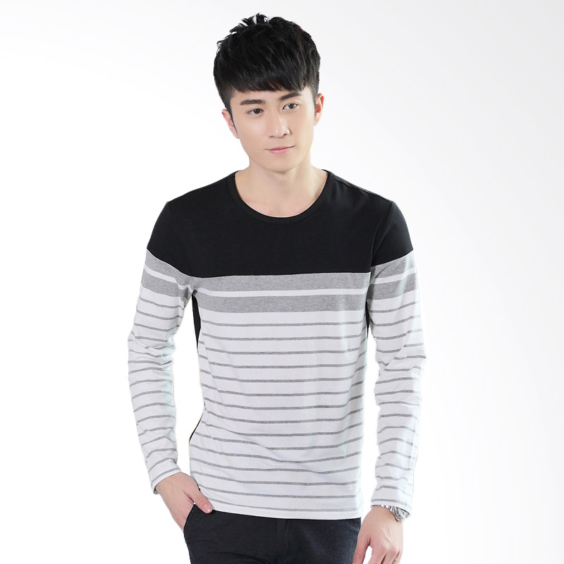 Upstyle Man Long Sleeve 105 T-Shirt - Black