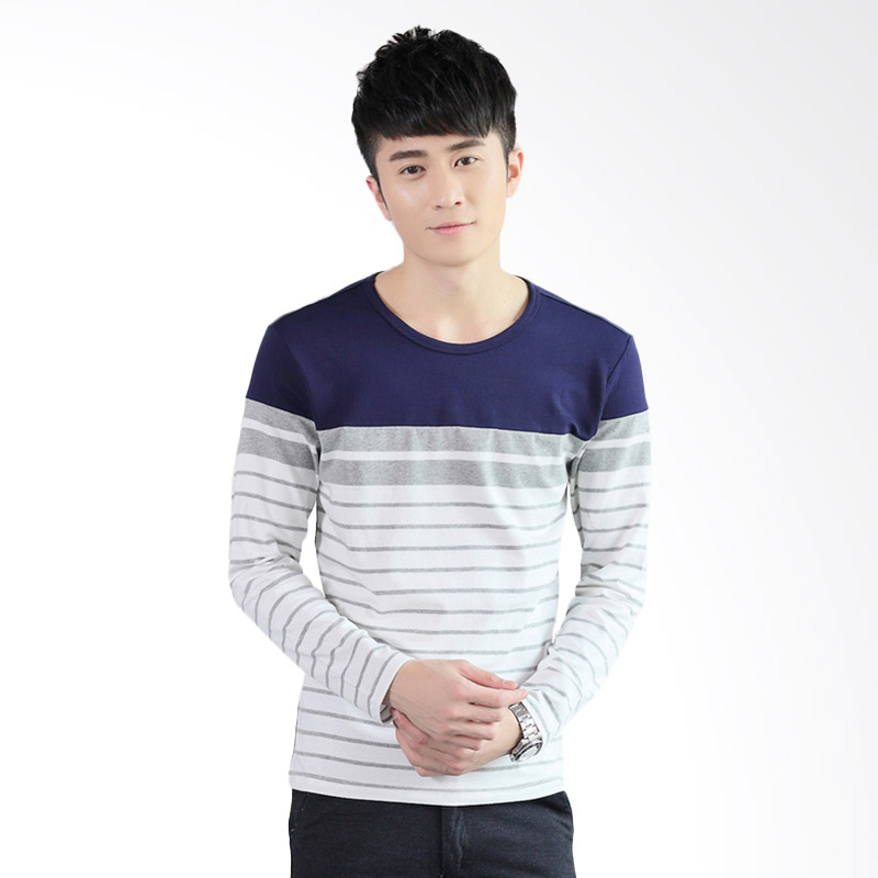 Upstyle Man Long Sleeve 105 T-Shirt - Blue