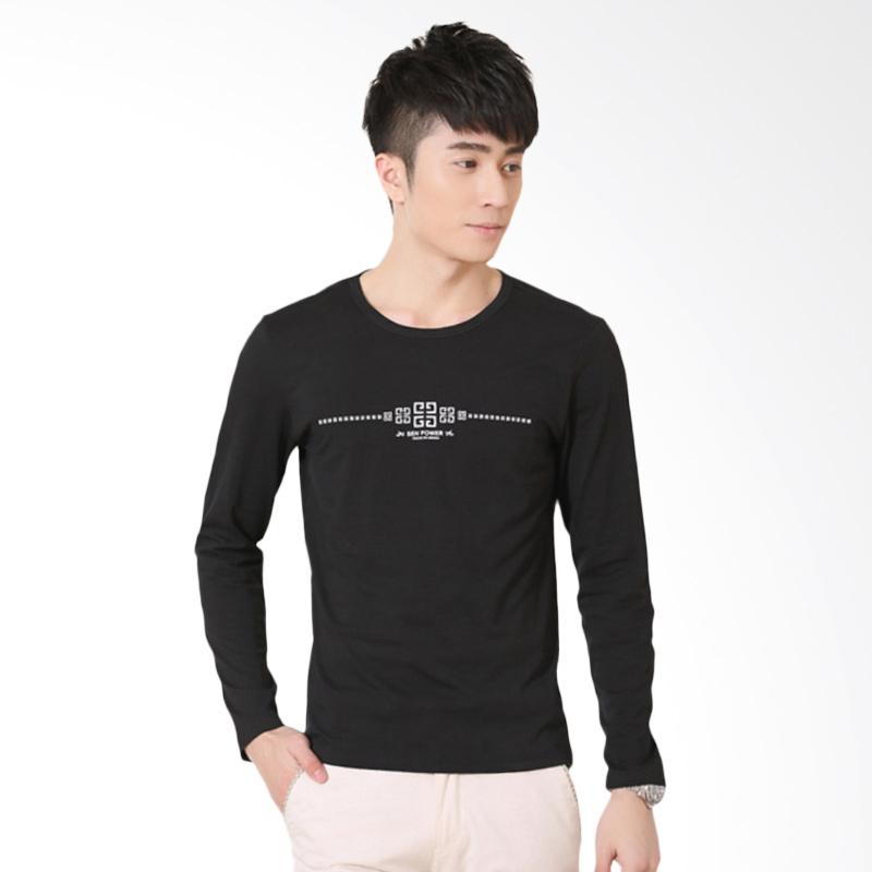 Upstyle Man Long Sleeve T-shirt 106 - Black