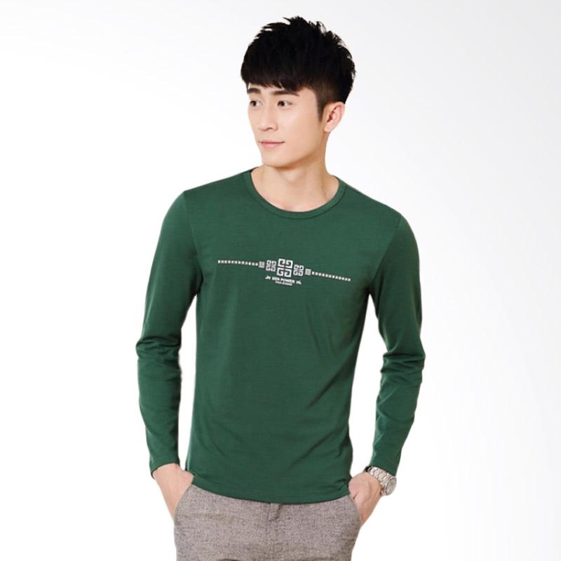 Upstyle Man Long Sleeve T-shirt 106 Atasan Pria - Green
