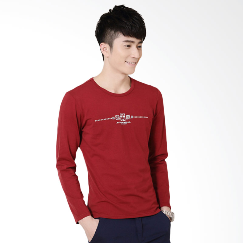 Upstyle Man Long Sleeve T-shirt 106 - Red
