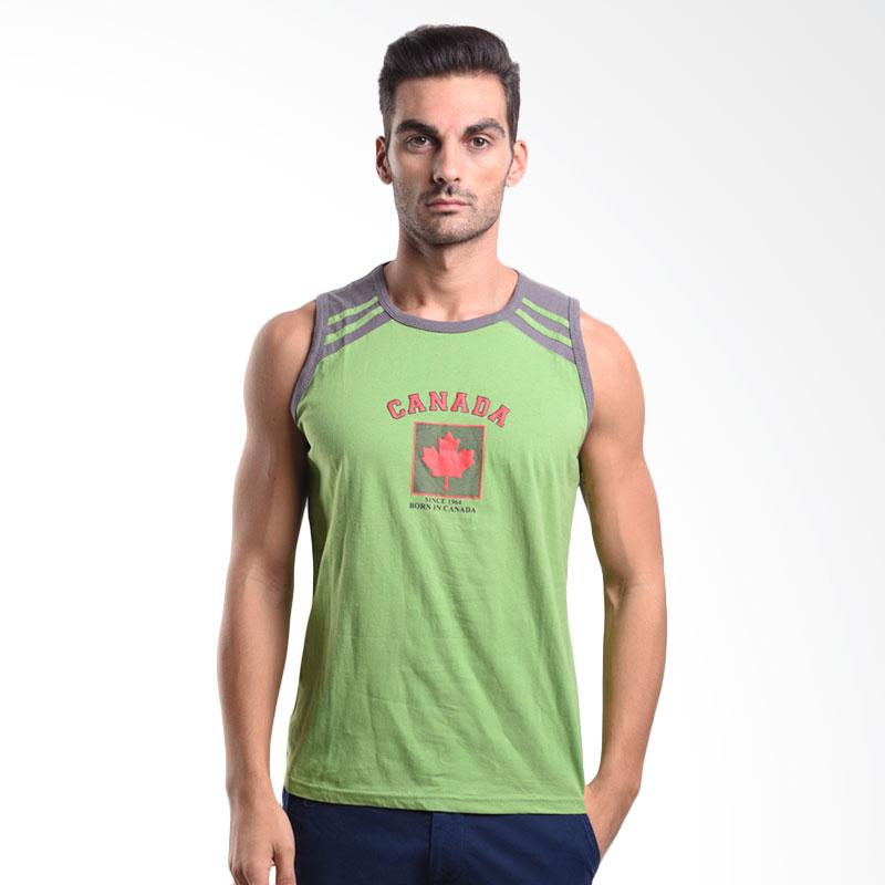 Urban Connexion Men Shirt Canada Sleeveless T-shirt Green Atasan Pria Extra diskon 7% setiap hari Extra diskon 5% setiap hari Citibank – lebih hemat 10%