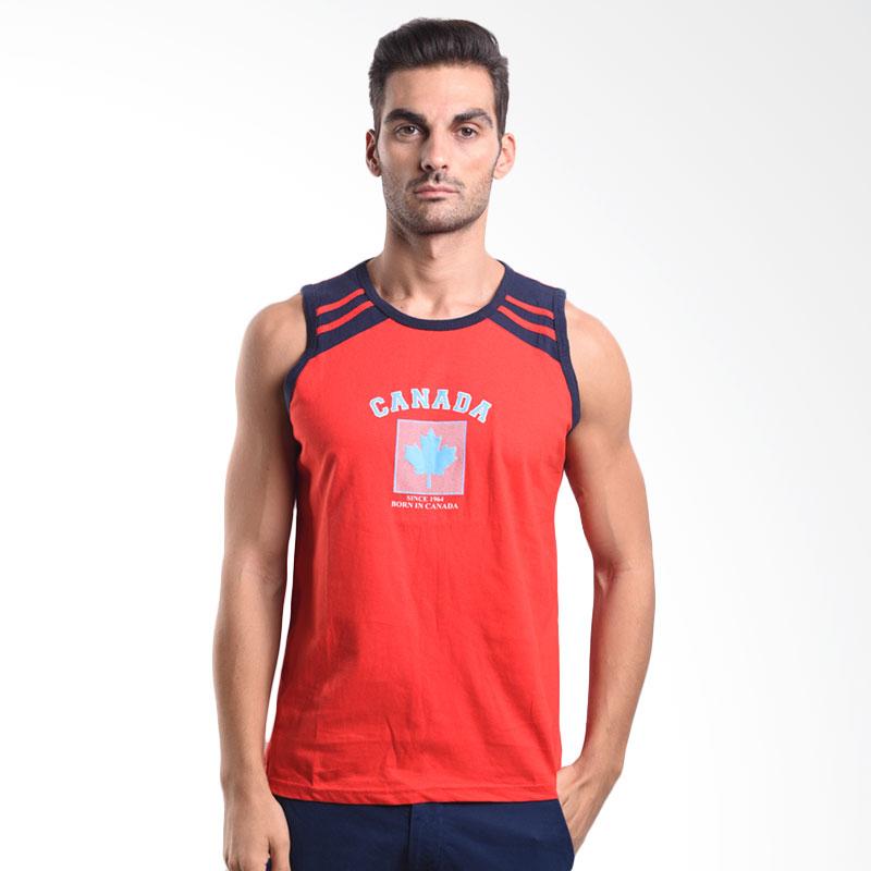 Urban Connexion Men Shirt Canada Sleeveless T-shirt Red Atasan Pria Extra diskon 7% setiap hari Extra diskon 5% setiap hari Citibank – lebih hemat 10%