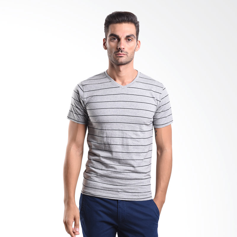 Urban Connexion Men Shirt Francesco strip light grey shirt UC-M-S105 All Size Extra diskon 7% setiap hari Extra diskon 5% setiap hari