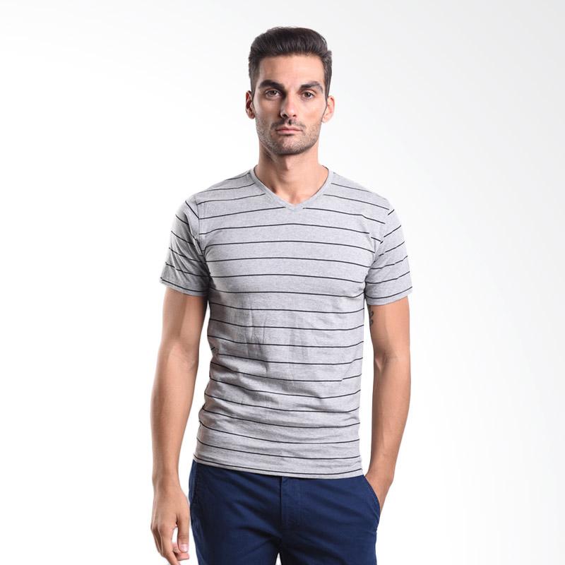 Urban Connexion Men Shirt Francesco strip light grey shirt UC-M-S105 All Size Extra diskon 7% setiap hari Extra diskon 5% setiap hari