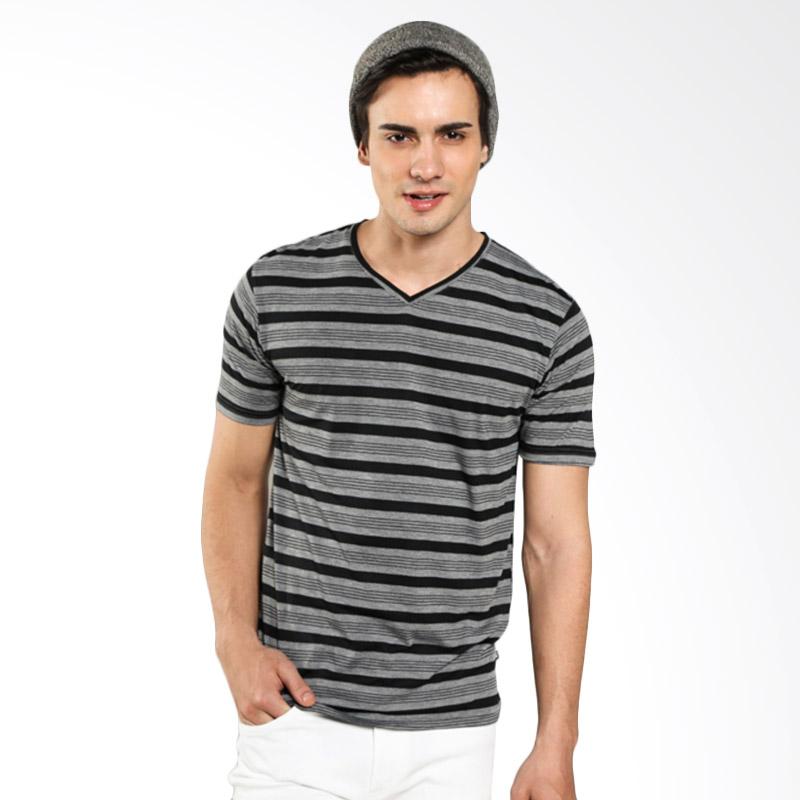 Urban Connexion Men Shirt Sony Stripe Mix T-shirt Dark Grey Atasan Pria Extra diskon 7% setiap hari Citibank – lebih hemat 10% Extra diskon 5% setiap hari