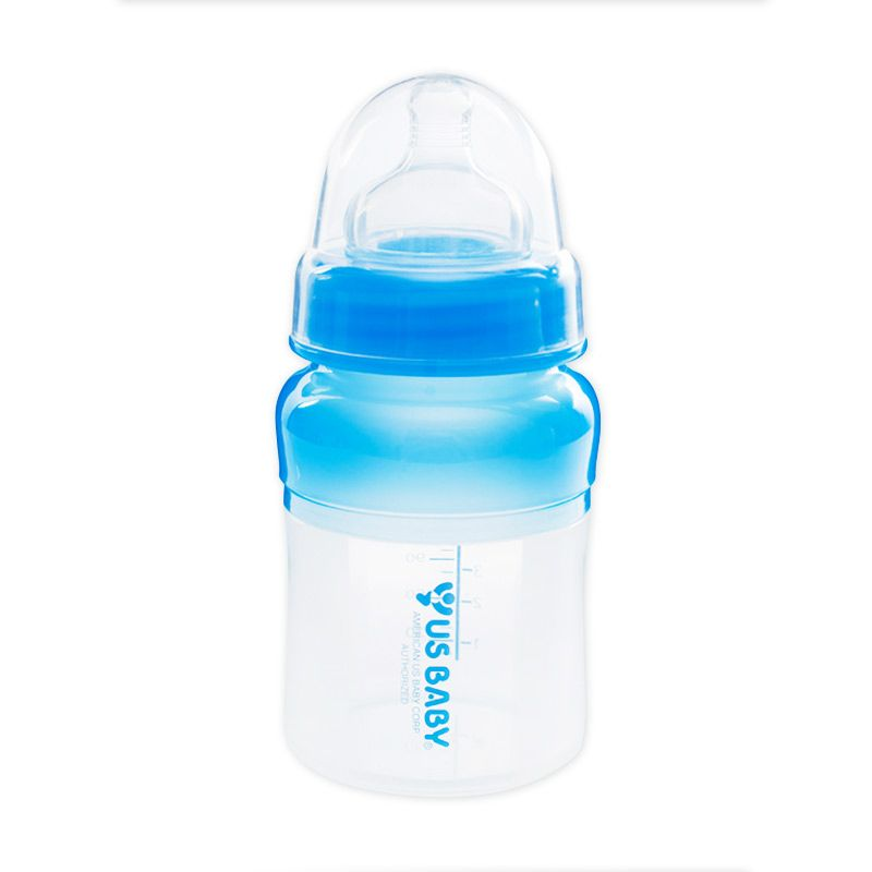 US BABY Sili-Smart Silicone Medical Grade Bottle Blue 120ml