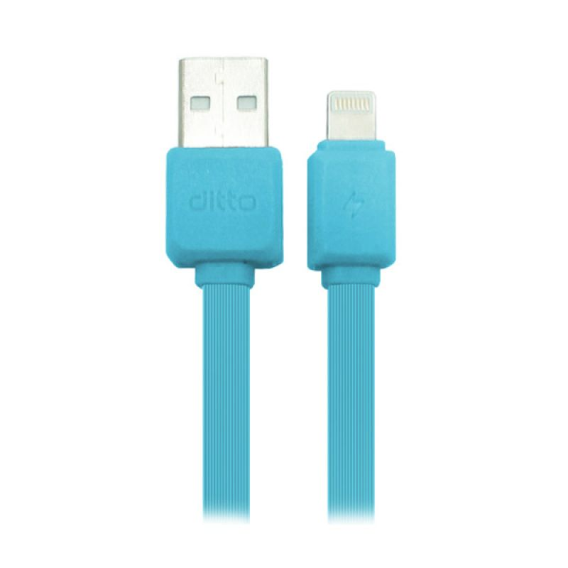 USB Fashion Cable Blue Kabel Data Ditto for iPhone 5