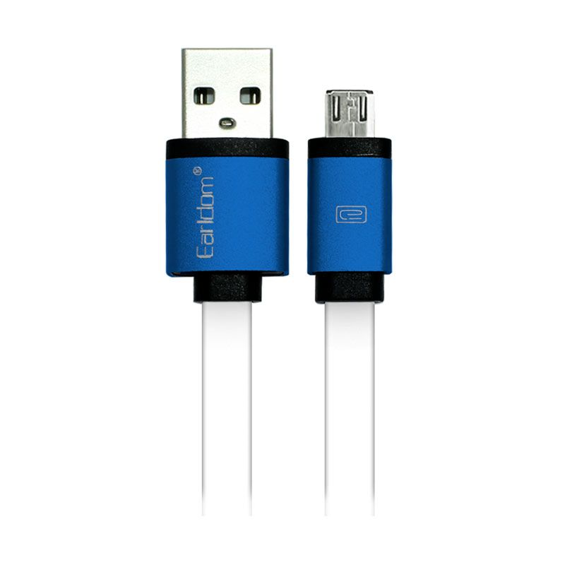 Earldom Blue Kabel Data Micro USB