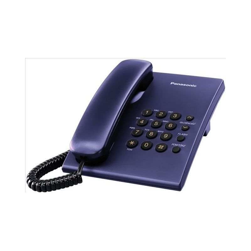PANASONIC Telepon Kabel KX-TS505 - Biru
