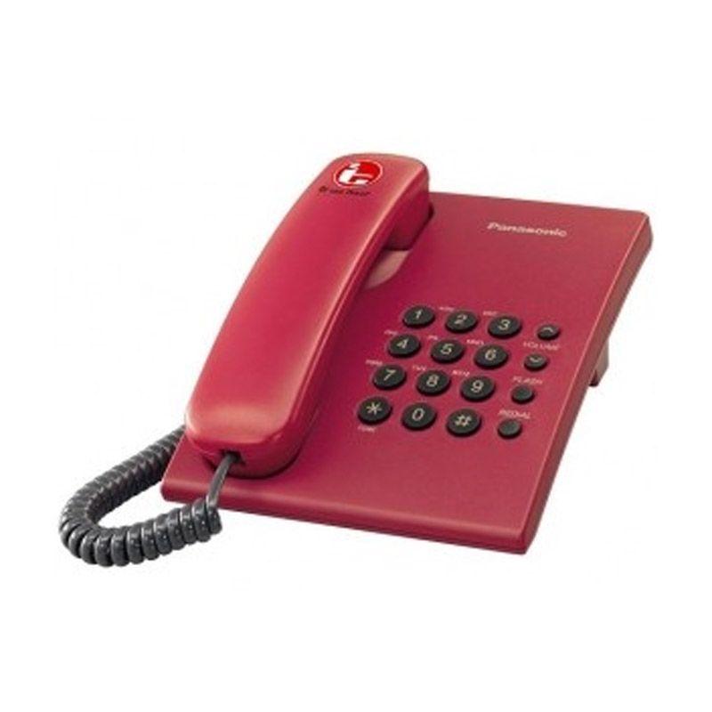 Panasonic KXTS505MX Merah Telepon