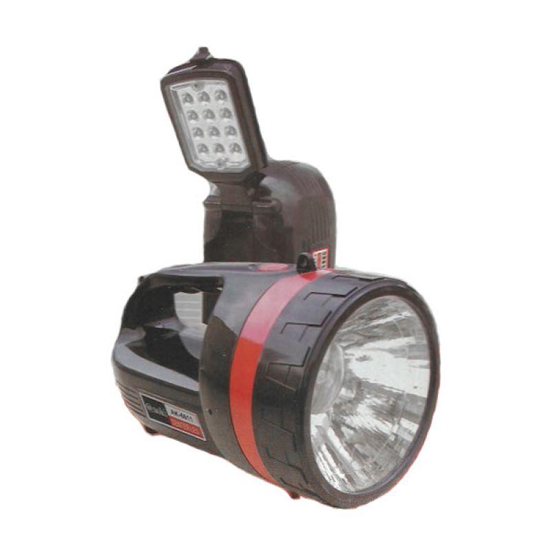 Aoki Ak-6611S Hitam Senter Dan Lampu Meja [1.5 watt]