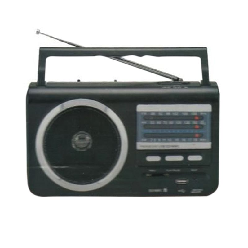 Asatron R-92USB SW AM Plus Pemutar USB Hitam Radio FM