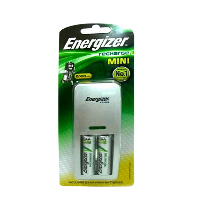 Energizer Recharge Mini Silver Charger dan Baterai [900 mAh]
