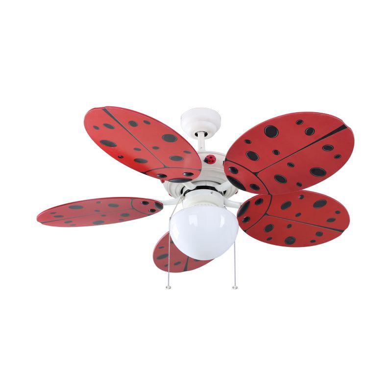 MT.EDMA Ladybird Merah Kipas Angin [42 inch]