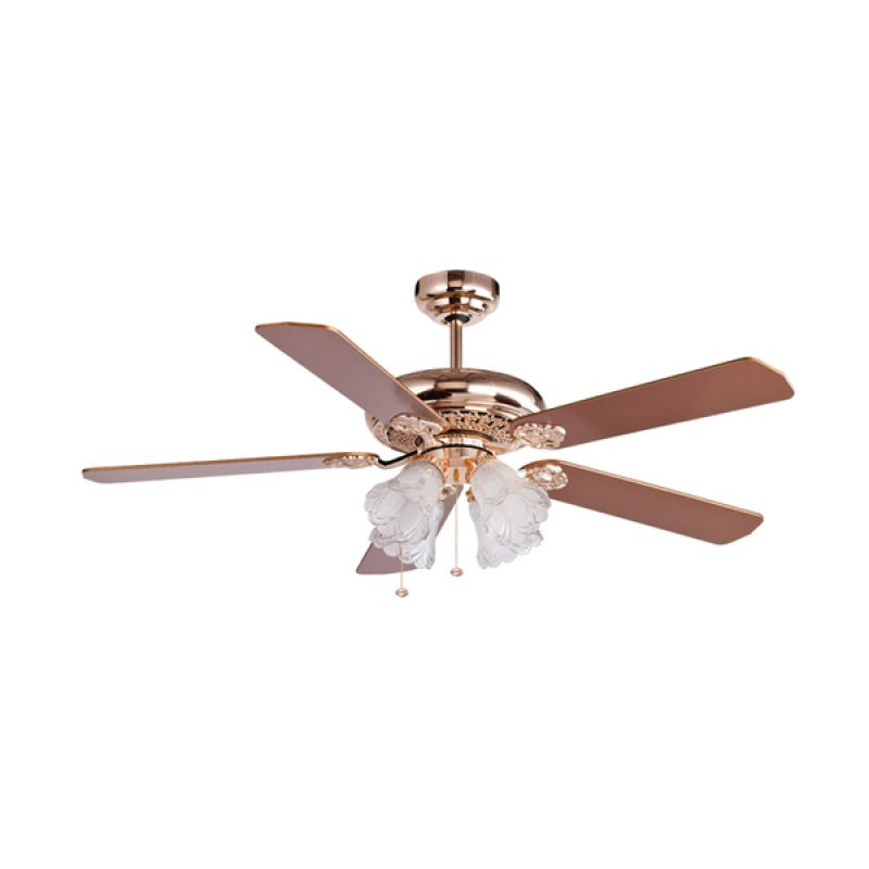 MT EDMA Ultra Crown Gold Rosewood Ceiling Fan Kipas Angin [52 Inch]