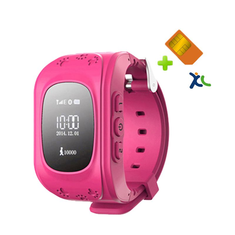 uWatch GPS Tracker Pink Smartwatch + Sim Card XL and Setting