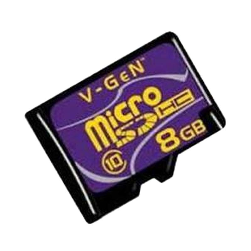 V-GEN Micro SD 8b Class 10 Memory Card + Adapter