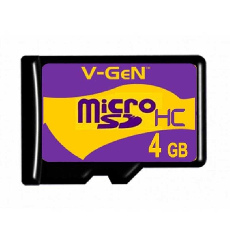V-Gen Micro SD Memory Card – Hitam [4 GB]