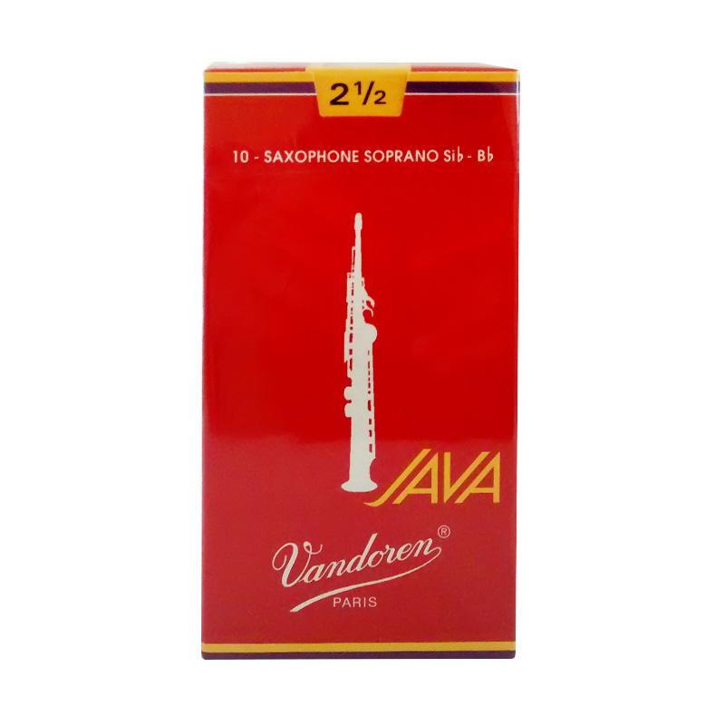 Vandoren Reed Soprano Saxophone Java #2.5 - Red