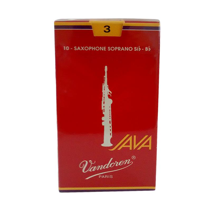 Vandoren Reed Soprano Saxophone Java #3 Alat Musik - Red