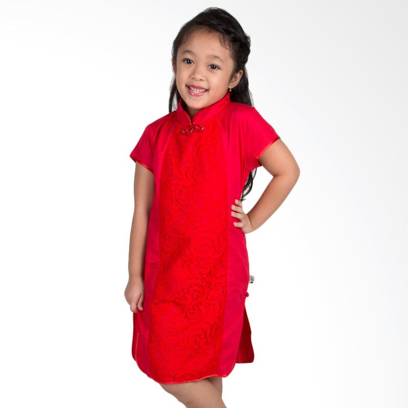 Vanessa And Cedreela Cheongsam Red Dress Anak