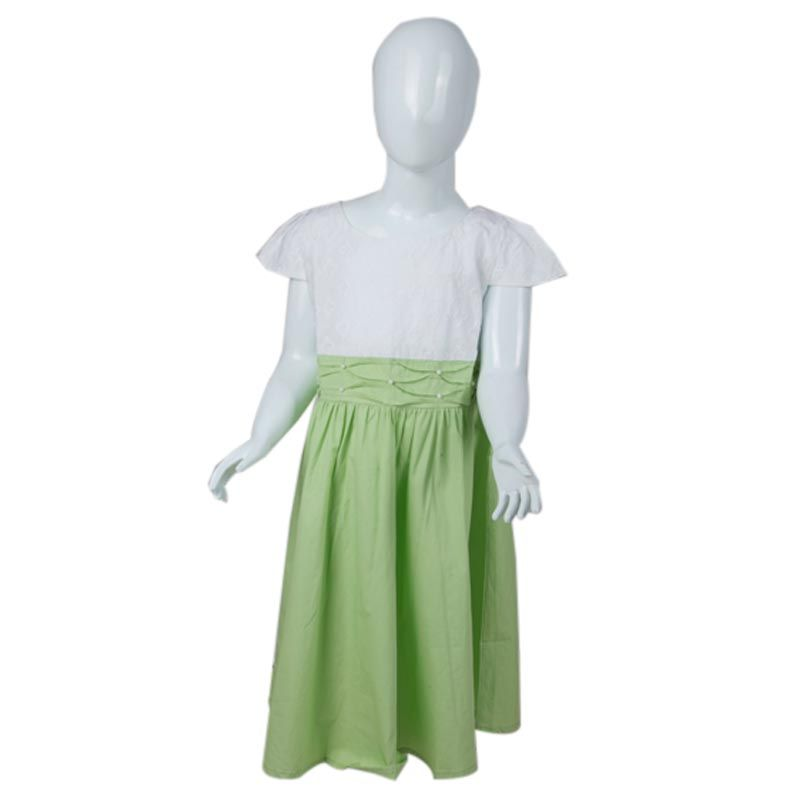 Vanessa And Cedreela Smocked With Pearl Beading White Lime Green Dress Anak