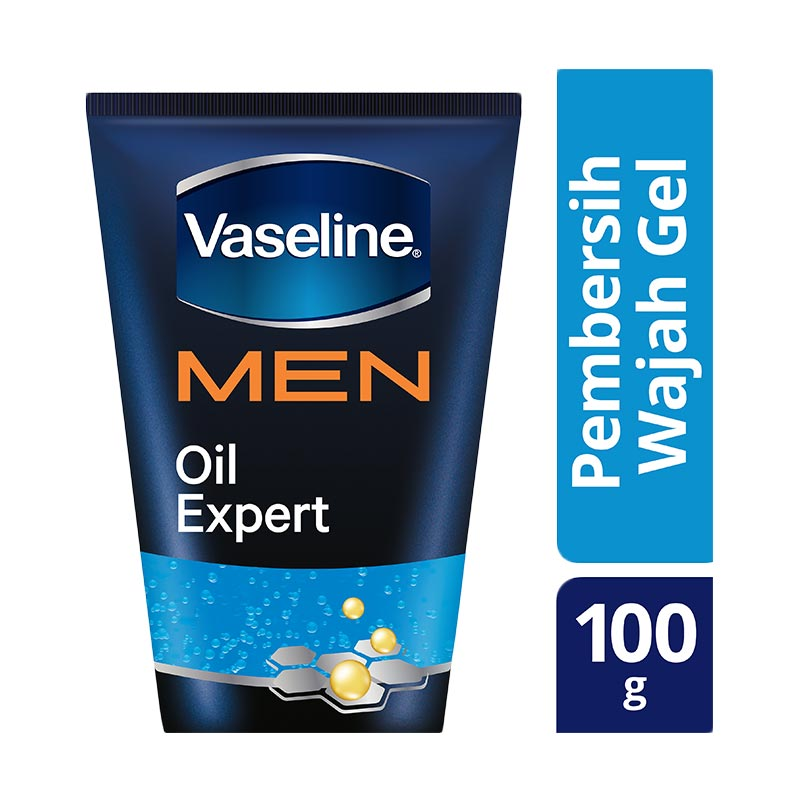 Vaseline Men Gel Oil Expert Facial Wash
