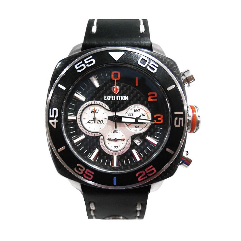 Expedition 6642 MCLSSBAOR Silver Black Jam Tangan Pria