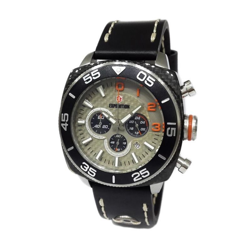 Expedition 6642 MCLSSDGOR Silver Dark Grey Jam Tangan Pria