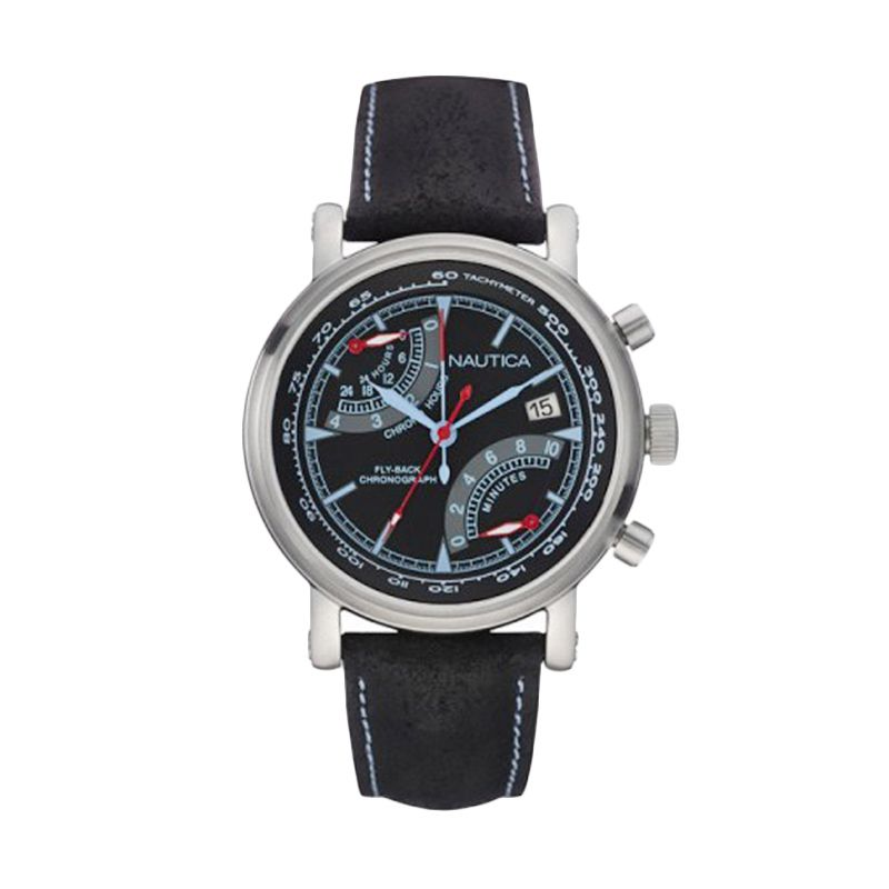 Nautica NAI17503G Silver Black Jam Tangan Pria