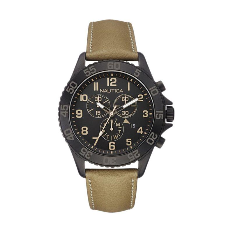 Nautica NAI17507G Black Jam Tangan Pria