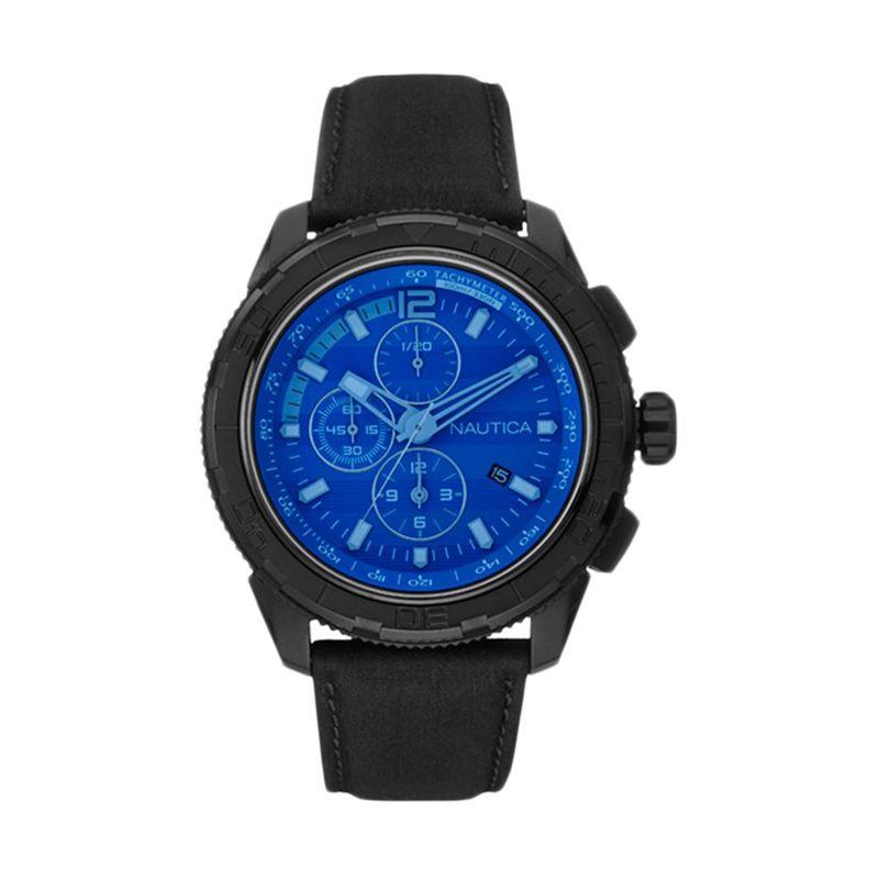 Nautica NAI21504G Black Jam Tangan Pria