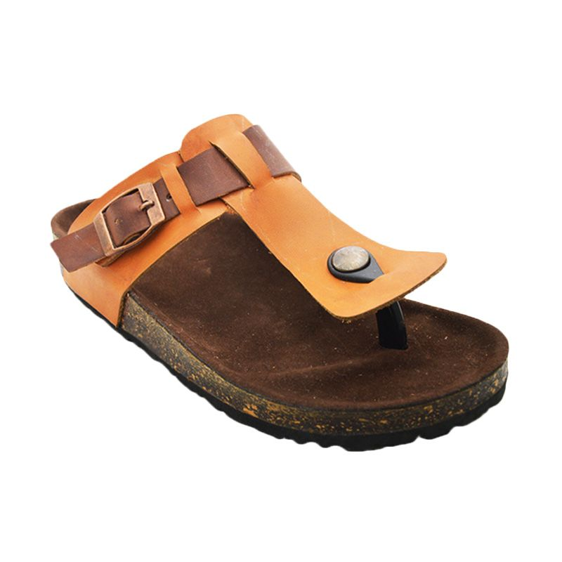 Vega Shoes Tan Brown Sandal Wanita