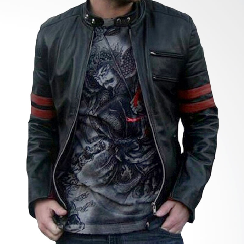harga Jaket Kulit Pria X-Man Bikers B-Racer Sintetis Asli Buatan Garut Size M L XL Blibli.com