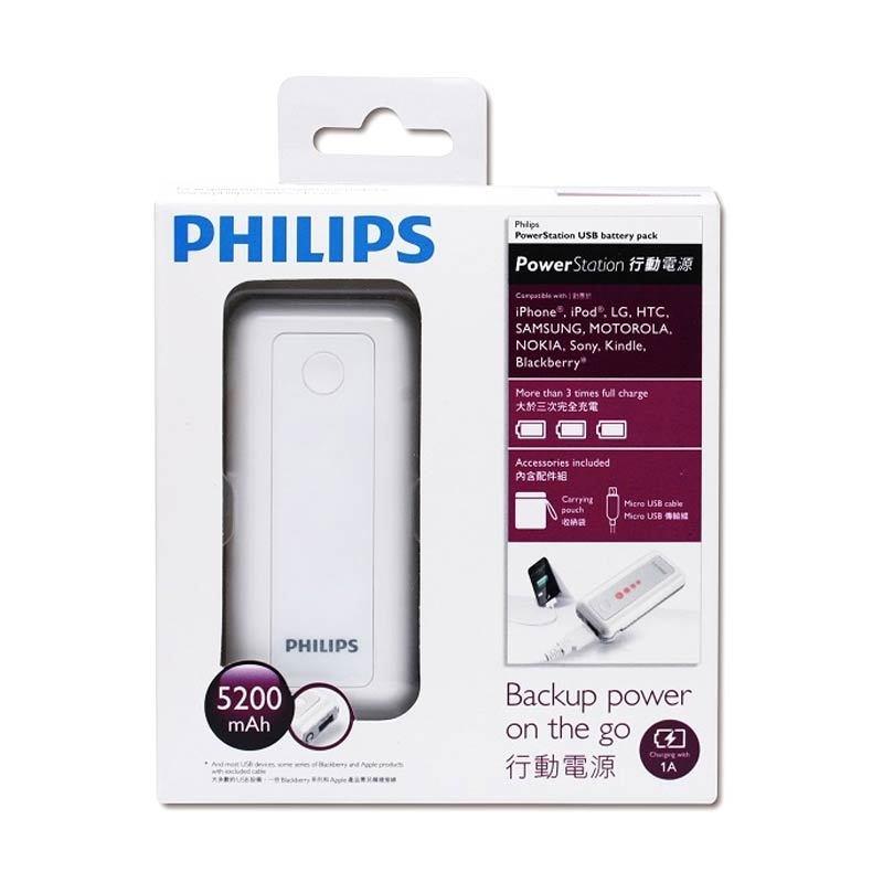 PHILIPS Power Bank 5200mAh White