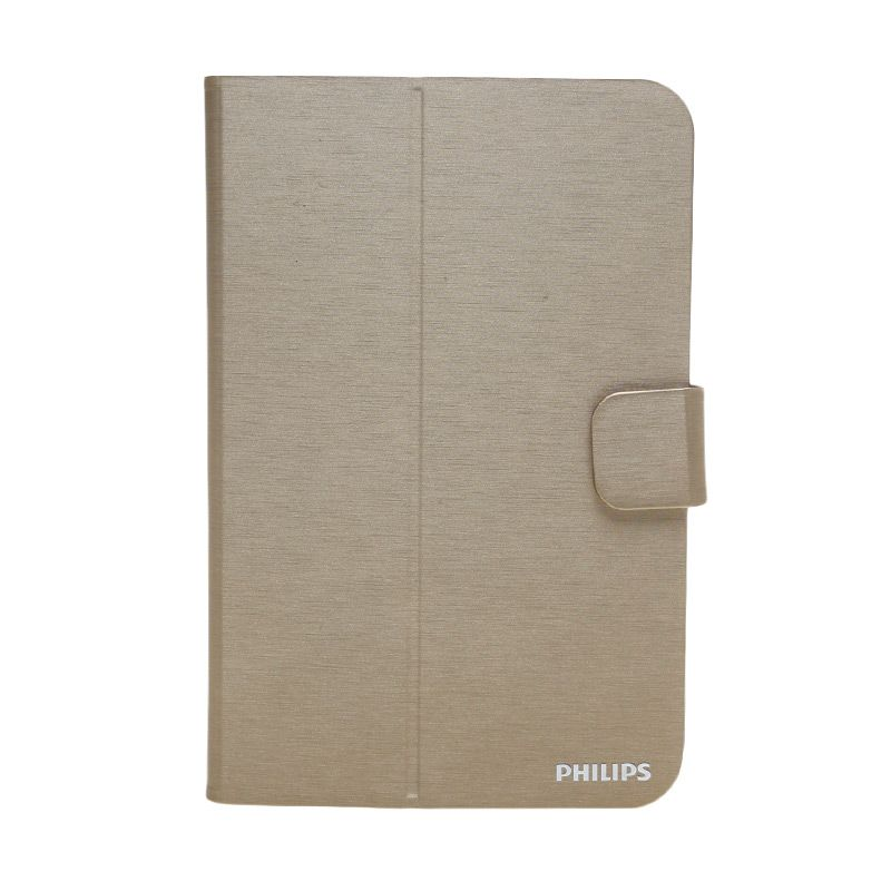 Philips Universal Folio Case 7-8 Inch Adjust and Rotate Gold Casing