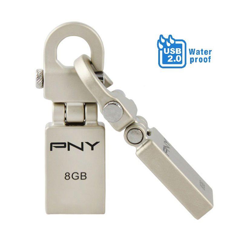 PNY USB2.0 Flash Drive Water Resistant Mini Hook 8GB