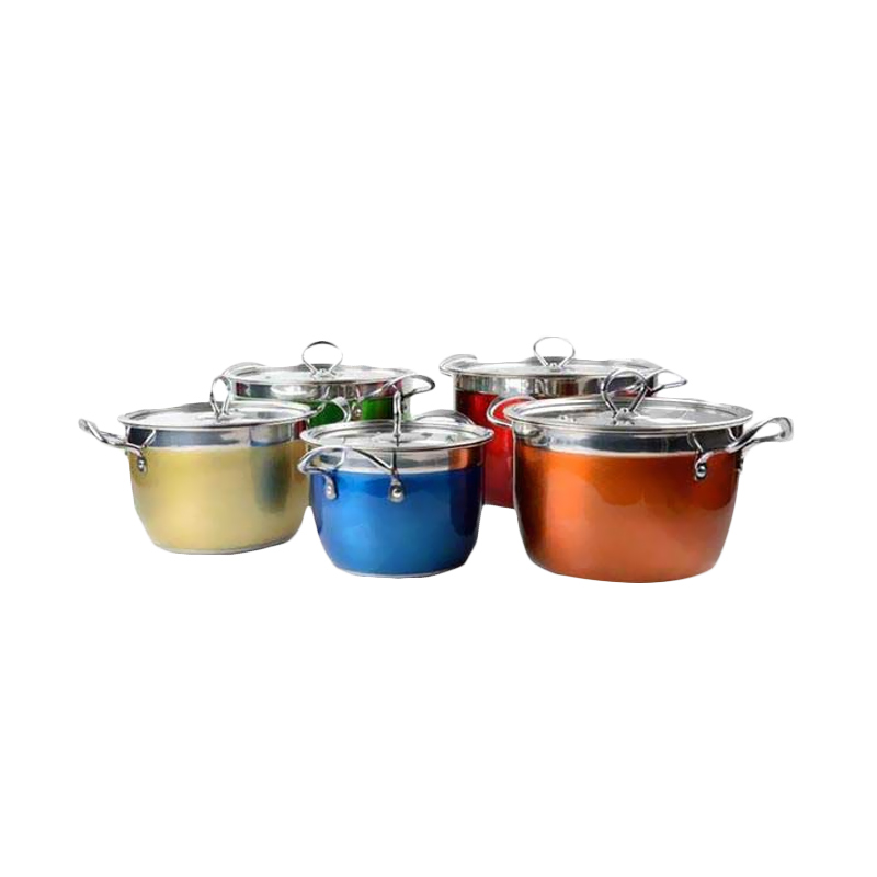Vicenza V510 Cookware Set Panci Set Rainbow